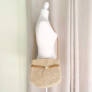VNTG Rodo Italy Soft Straw Bucket Bag
